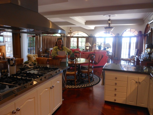 A rare shot of me while inspecting  a property - but that kitchen! I wanted to move in right then.
