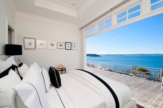 Norma House master bedroom - unsurpassable view.